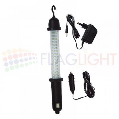 LED преносима лампа  с адаптор и зарядно за 12V