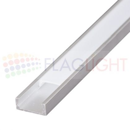 Алуминиев профил 2м за LED лента (тесен)