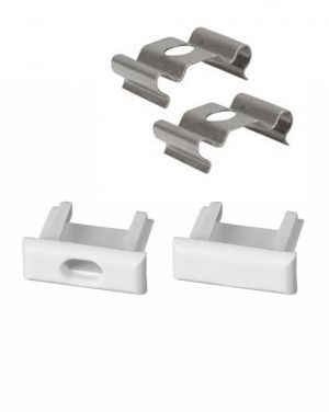 End Caps and Mounting Brackets for Al. Profile - Set x 2 pcs