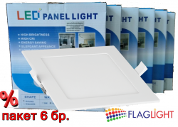 Economi multi pack LED Panel Light 18 W square