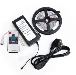 Ser 5m LED strip  5050 60 LED/m RGB +IR Controller 44 key+ Adapter