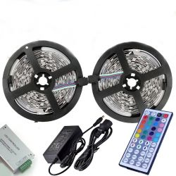 SET 10 m LED  5050 30 LED/m RGB  with Power supply, IR controller