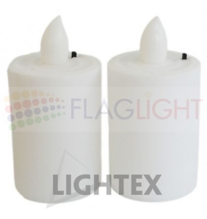 LED Christmas candles 4004 / x 2 pcs blister / without batteries 3xAAA Lightex