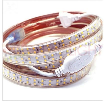 10m Waterproof LED strip  for 220 V + power plug