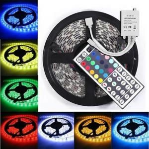 SET 5m LED strip  5050 30 LED/m RGB+adapter +contoller 44 key